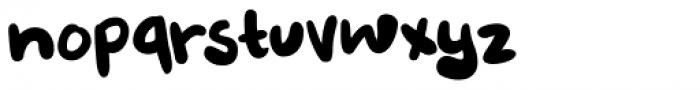 Burobu Regular Font LOWERCASE