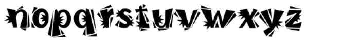 Burweed ICG Thorny Font LOWERCASE