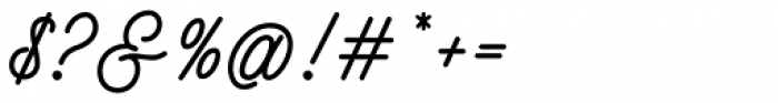 Buryland Script Regular Font OTHER CHARS