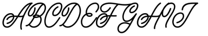 Buryland Script Regular Font UPPERCASE
