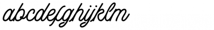 Buryland Script Regular Font LOWERCASE