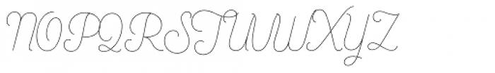 Bushcraft Pro Thin Font UPPERCASE