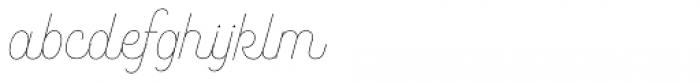 Bushcraft Pro Thin Font LOWERCASE