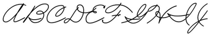 Business Penmanship Bold Font UPPERCASE