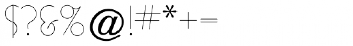 Busorama Light Font OTHER CHARS