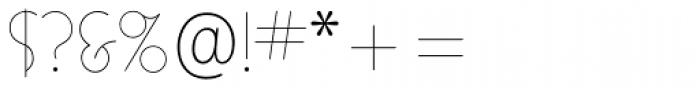 Busorama Std Light Font OTHER CHARS