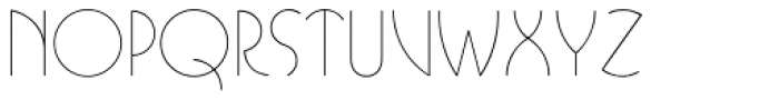 Busorama Std Light Font LOWERCASE