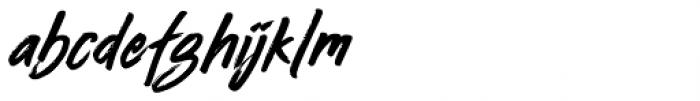 Busther Regular Font LOWERCASE