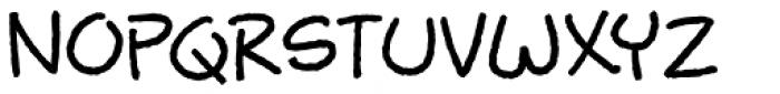 Busy Scratch Regular Font UPPERCASE