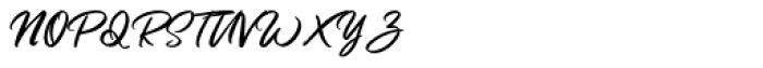 Butter Swany Regular Font UPPERCASE
