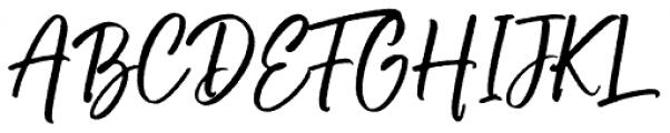 Buttercell Script Rough Font UPPERCASE