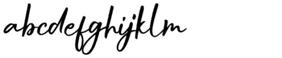 Buttercell Script Rough Font LOWERCASE