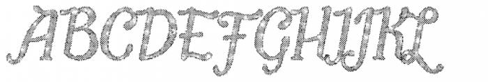 Butternut Halftone Font UPPERCASE
