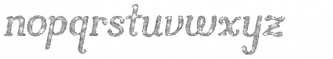 Butternut Halftone Font LOWERCASE