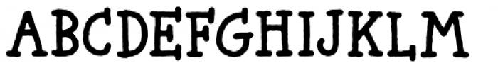 Butterzone Regular Font UPPERCASE