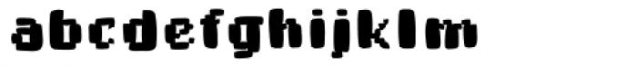 Buttmap Font LOWERCASE