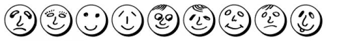 Button Faces Demi Font UPPERCASE