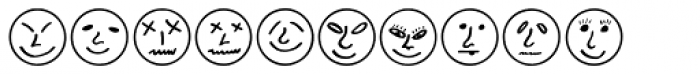 Button Faces Font OTHER CHARS