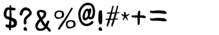 Buttweasel Light Font OTHER CHARS