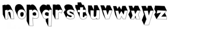 Buxus Frontlit Font LOWERCASE