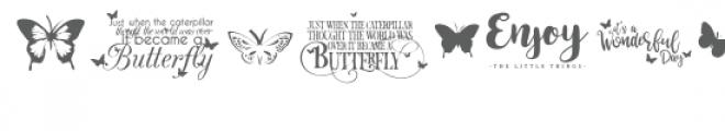 butterfly bonanza font Font UPPERCASE