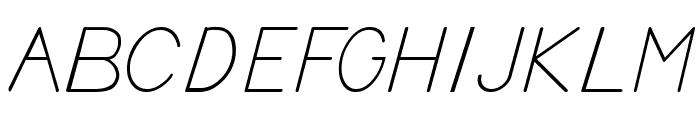 BV Cursive Ital Italic Font UPPERCASE