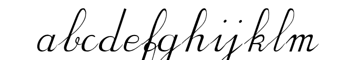 BV Cursive Ital Italic Font LOWERCASE