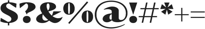 Bw Darius Black otf (900) Font OTHER CHARS
