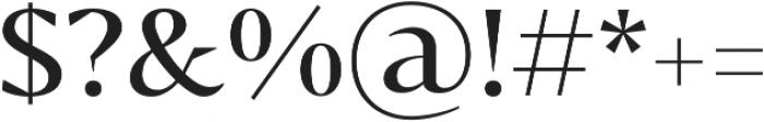 Bw Darius otf (400) Font OTHER CHARS