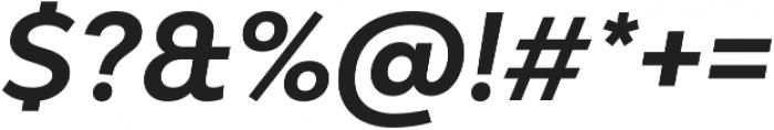 Bw Modelica Bold Italic otf (700) Font OTHER CHARS