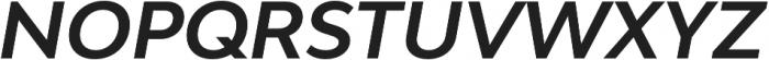 Bw Modelica Bold Italic otf (700) Font UPPERCASE