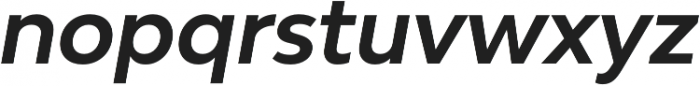 Bw Modelica Bold Italic otf (700) Font LOWERCASE