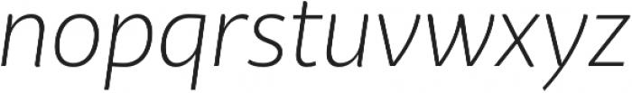 Bw Surco Light Italic otf (300) Font LOWERCASE