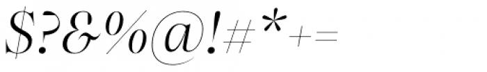 Bw Beto Grande Light Italic Font OTHER CHARS