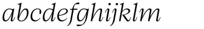 Bw Beto Light Italic Font LOWERCASE