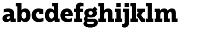 Bw Glenn Slab Extra Bold Font LOWERCASE