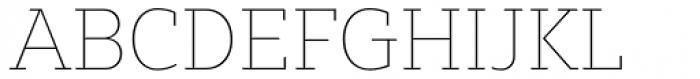 Bw Glenn Slab Hairline Font UPPERCASE