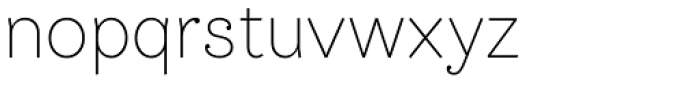 Bw James Extra Light Font LOWERCASE