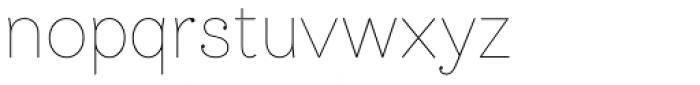 Bw James Thin Font LOWERCASE