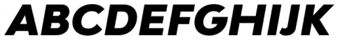 Bw Modelica Black Italic Font UPPERCASE