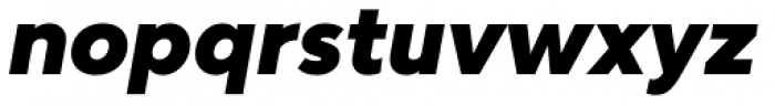 Bw Modelica Black Italic Font LOWERCASE