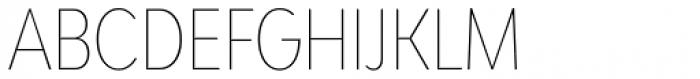 Bw Modelica Hairline Ultra Condensed Font UPPERCASE