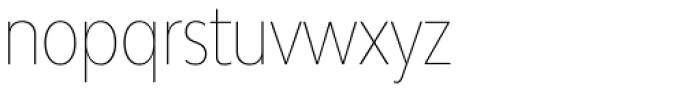 Bw Modelica Hairline Ultra Condensed Font LOWERCASE