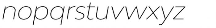 Bw Modelica LGC Thin Italic Font LOWERCASE