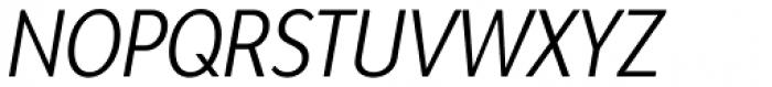 Bw Modelica Regular Ultra Condensed Italic Font UPPERCASE