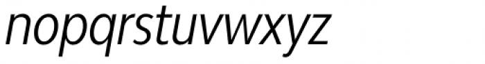 Bw Modelica Regular Ultra Condensed Italic Font LOWERCASE