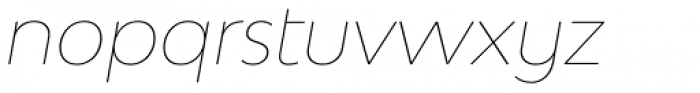 Bw Modelica SS01 Hairline Italic Font LOWERCASE