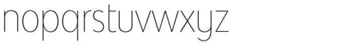 Bw Modelica SS01 Hairline Ultra Condensed Font LOWERCASE
