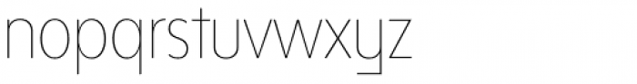 Bw Modelica SS02 Hairline Ultra Condensed Font LOWERCASE