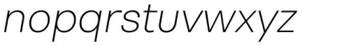 Bw Nista Geometric Thin Italic Font LOWERCASE